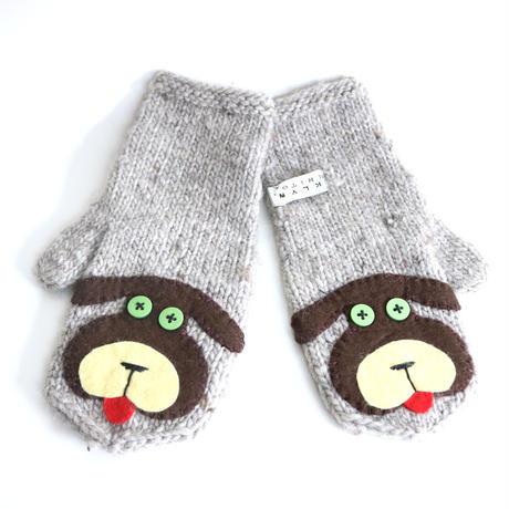 Brooklyn Handknit 犬のアップリケミトン/手袋