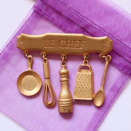 JJ / Jonette Jewelry company 料理好きさん/シェフのための ヴィンテージブローチ