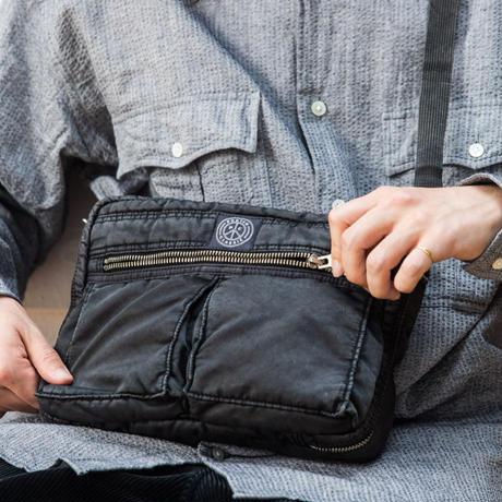 SUPER NYLON SHOULDER BAG M -BLACK-