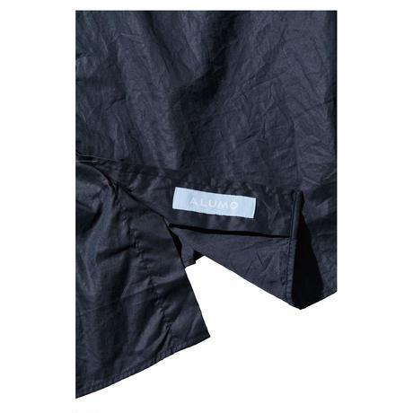 ROLL UP MICRO TWILL SHIRT(ALUMO FABRIC) -BLACK-