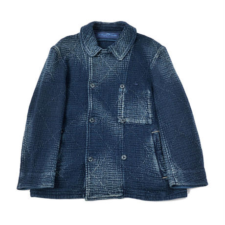 PC SASHIKO SHORT PEA COAT -BLUE-