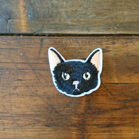 猫ワッペン 黒猫