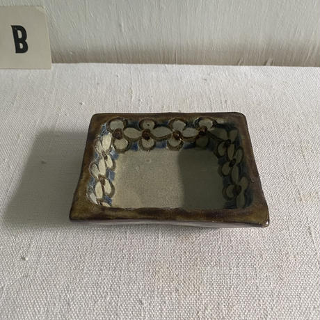 陶藝玉城 3寸型皿(長方形)
