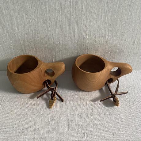 ククサ風 沖縄県産木製マグカップ 小