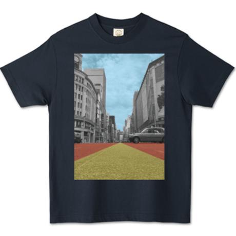 【銀バル】オーガニックコットンTシャツ - パープルネイビー