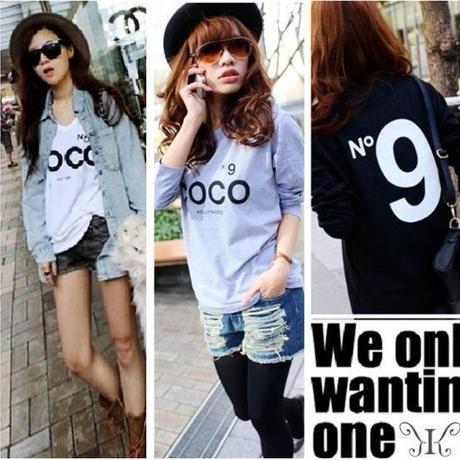 大きいサイズ セレブカジュアルN9プリントCOCOロゴHOLLYWOOD coco Tシャツ 3L4L 5L 6L