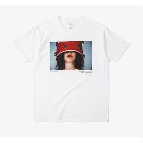 【D-EGO】ガールズ デザイン Tシャツ プリント Tシャツ ホワイト