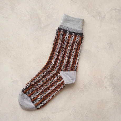 fluffy stripe / reversible <brown>