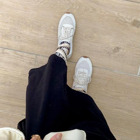 3D cross & stripes <beige>