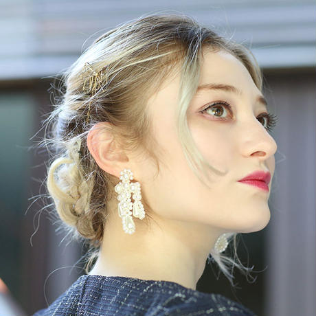 【pour Mademoiselle】ワイヤーリボンヘアピン