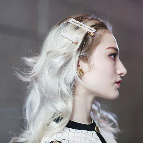 【pour Mademoiselle】パールヘアクリップ
