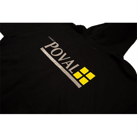 Brush Logo Hooded Sweatshirt (Black)