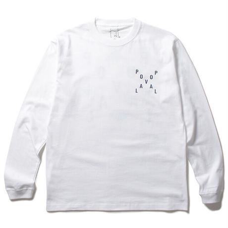 Pin Logo LS Tee / White