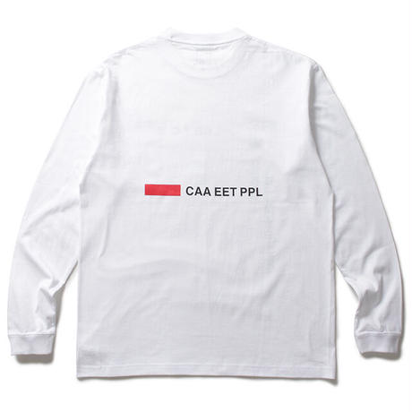 Night Thoughts LS Tee / White