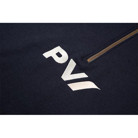 Airways Quarter Zip Sweatshirt (Navy/Cyan&White)