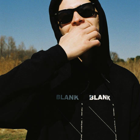 Blank Hooded Sweatshirt / Black