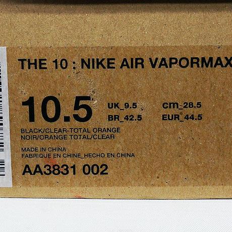 NIKE OFF-WHITE THE TEN AIR VAPOR MAX AA3831-002 ナイキ オフホワイト ヴェイパーマックス