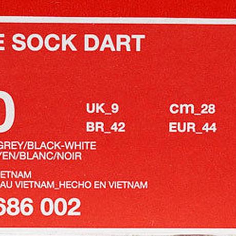 NIKE SOCK DART MEDIUM GREY 819686-002 US10 ナイキ ソックダート