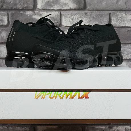 NIKE AIR VAPORMAX FLYKNIT TROPLE NOIR 849558-001 US9 ナイキ ヴァイパーマックス 27CM