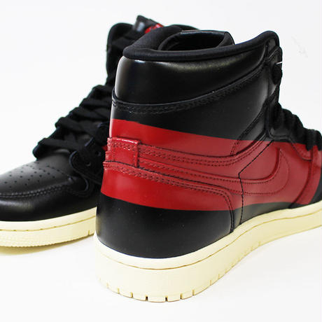 NIKE AIR JORDAN 1 RETRO HIGH OG DEFIANT BQ6682-006 BLACK×GYM RED-MUSLIN