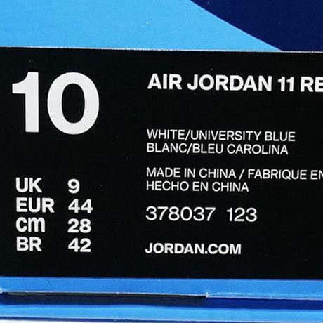 NIKE AIR JORDAN 11 WIN LIKE '82 378037-123 US10 ナイキ エアジョーダン11