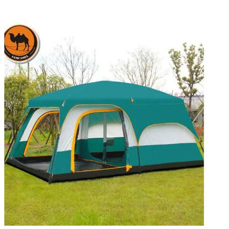 ツールームテント スクリーン付き ビッグサイズ テント 最大12人収容可能 キャンプ 用品 アウトドア 通気性 防虫 防水 防風
