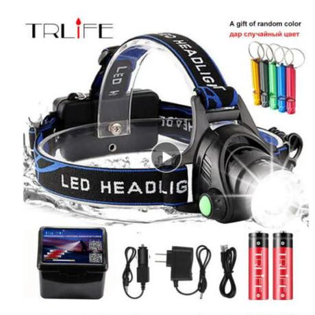 ヘッドライト LED 懐中電灯 XML-V6 高輝度 ヘッドランプ トーチ 防水 キャンプ 登山 自転車 防災 USB アウトドア