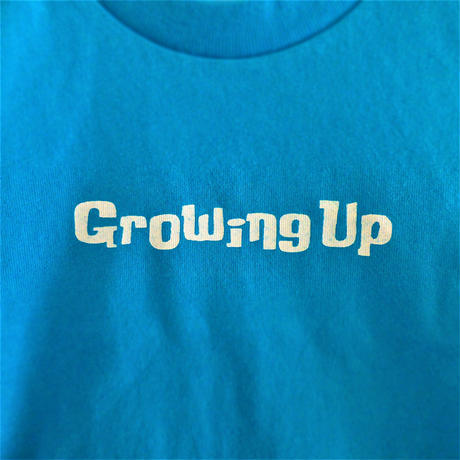 T SHiRT 5.6oz for KiDS 90cm - Growing Up - #TURQUOiSEBLUE x WHiTE