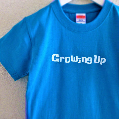 T SHiRT 5.6oz for KiDS 130cm - Growing Up - #TURQUOiSEBLUE x WHiTE