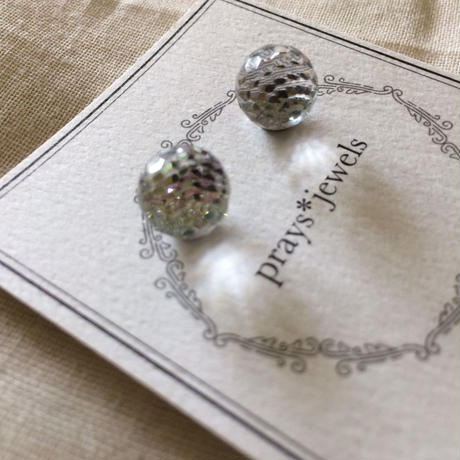 vintage swarovski magnet pierced・earringsノンホールピアス
