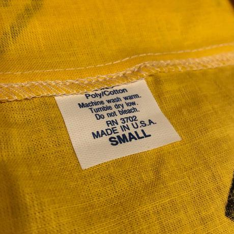 【NOS】USA製開襟デザインシャツ