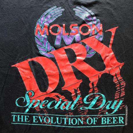 80's-90's MOLSON DRY BEER Tシャツ🍺