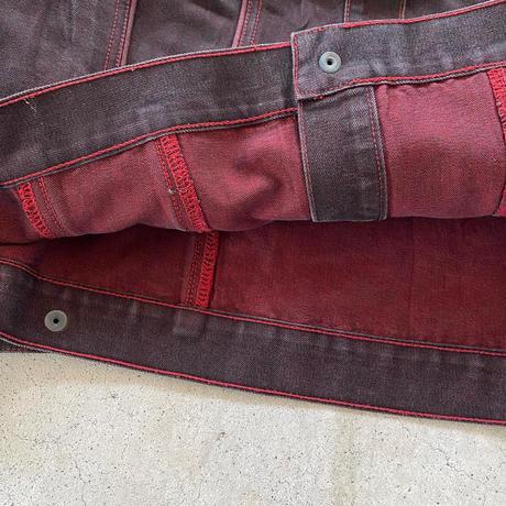 赤黒デニムジャケット