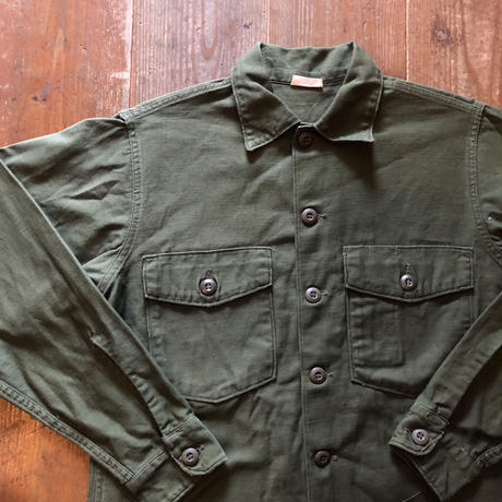 60's〜コットン ユーティリティシャツ 15 1/2 x33 ③