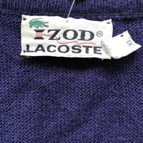 LACOSTEアクリルニットセーター紺
