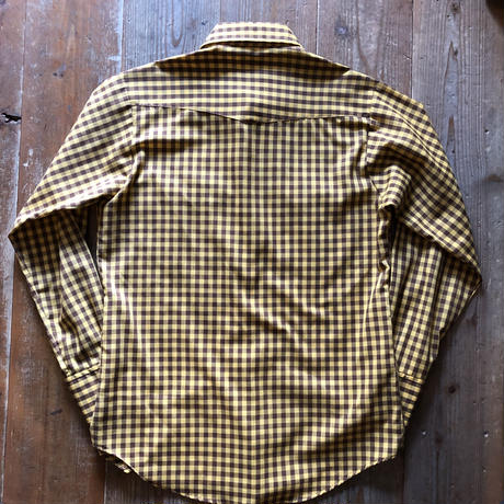 USA製70年代Leeウエスタンチェックシャツ M