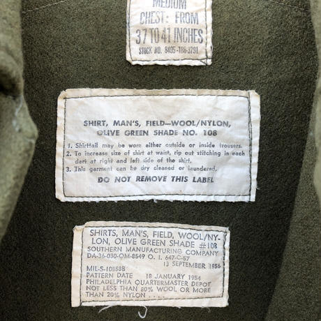 Military 50s US Army Wool Shirts