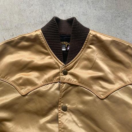 USA製ワッペン付きサテンジャケット