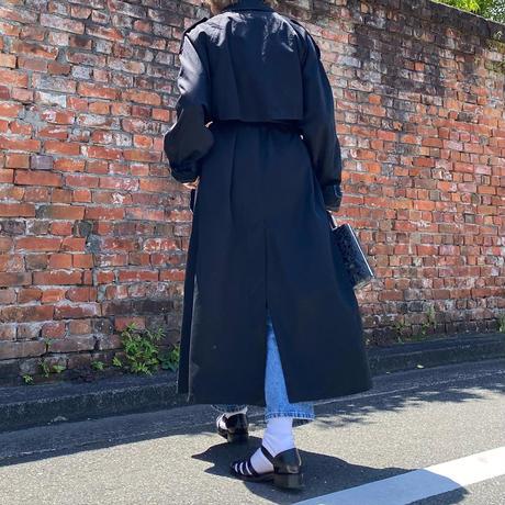 LONDON FOGブラックトレンチコート