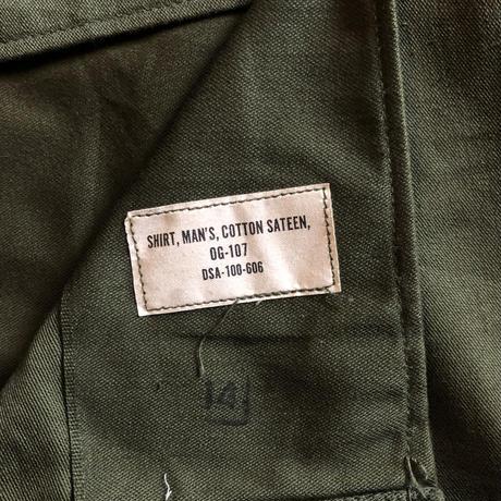 60's〜コットン ユーティリティシャツ 14 1/2 x31 ⑤