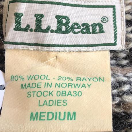 ノルウェー製 L.L.Bean ノルディックセーターカーディガン