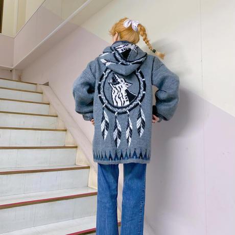 ドリームキャッチャー狼ウールジャケット