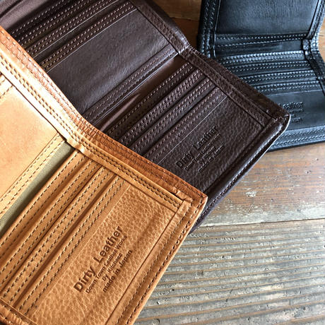Dirty Leather magic tape wallet