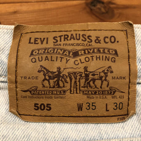 Levi's 505 ice wash