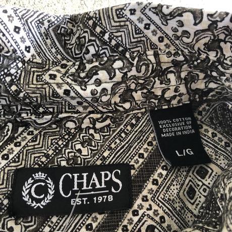 CHAPS総柄半袖シャツ  L