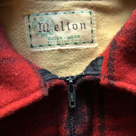 60's〜melton ウールハンティングジャケット