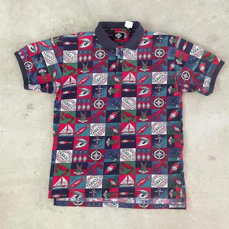 タバスコ総柄ポロシャツ