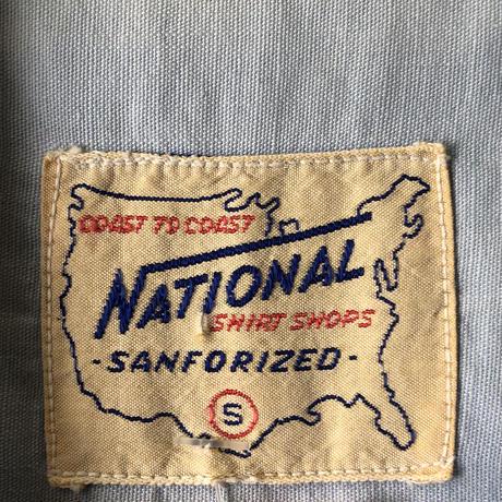 60's-70's ビンテージ刺繍入りシャツ
