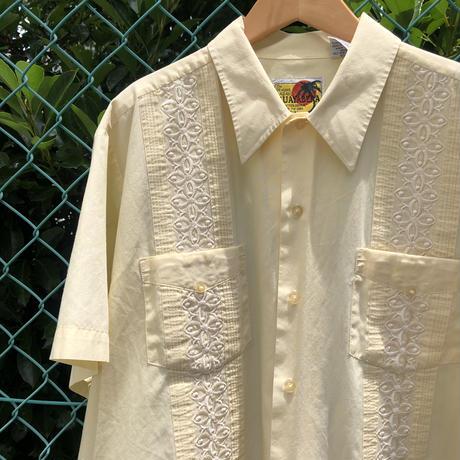 半袖キューバシャツ  黄色