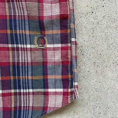 TOMMY半袖チェックシャツ